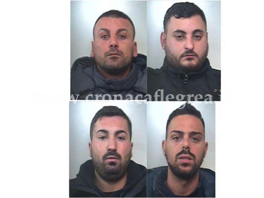 I 4 arrestati nella notte di lunedì 16 (foto e nomi su Cronacaflegrea.it)