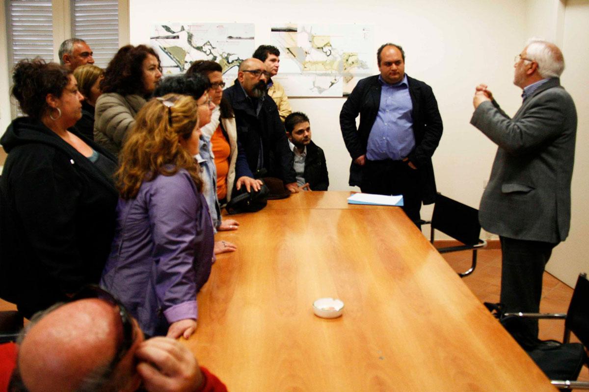 Il presidio e l'occupazione simbolica degli uffici di presidenza del CIC (23 aprile) - FOTO DI PAOLO VISONE
